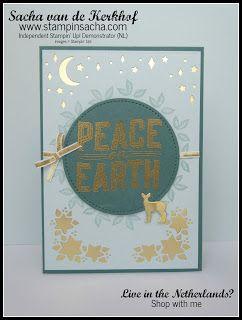 Stampin' Sacha | Stampin' Up! | Holiday Catalogue 2017 | Carols of Christmas | Front Card Builder Framelits | Christmas Card