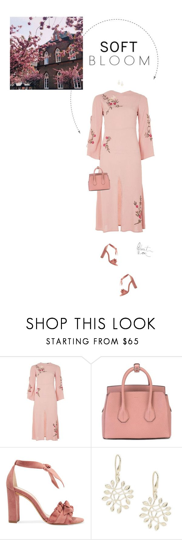 """""""Pink   Floral Embroidery."""" by xabbielou ❤ liked on Polyvore featuring Topshop, Bally, Alexandre Birman, Saks Fifth Avenue and GET LOST"""