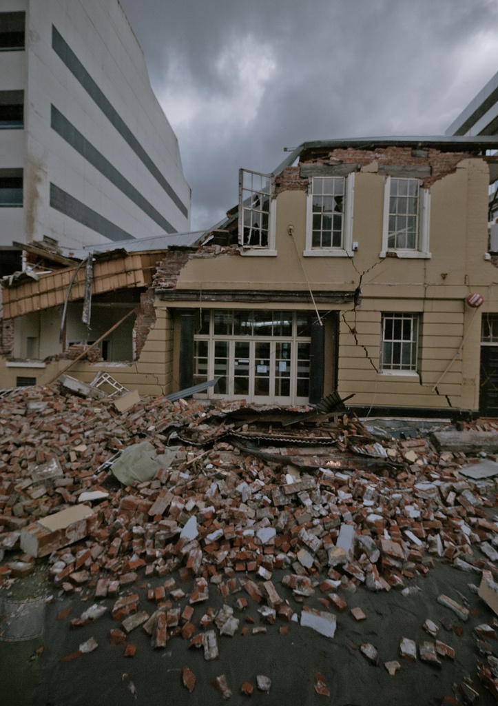 feb 22 2011, christchurch earthquake  Caledonian Hall, memories of Highland Dancing comps when I was a kid
