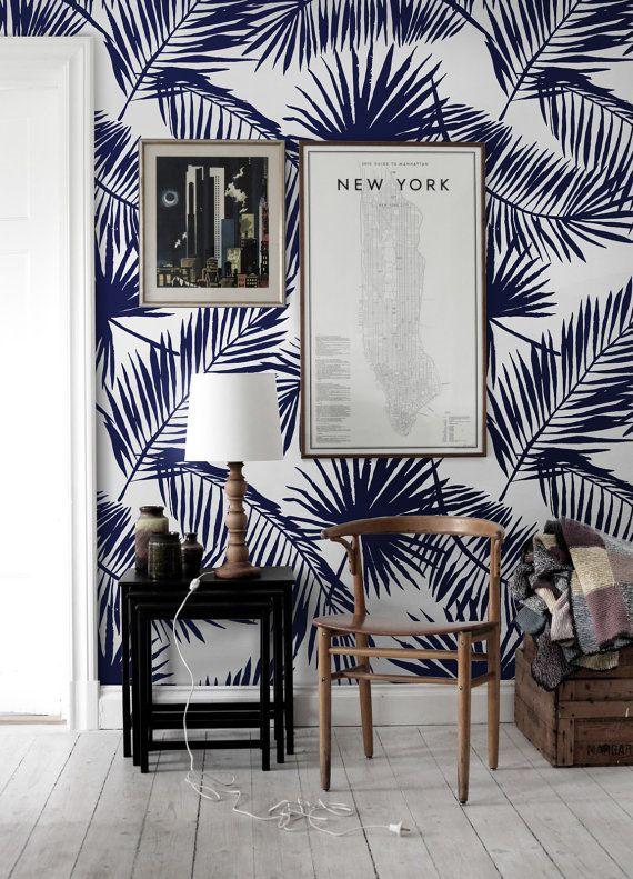 Palmiers tropicaux feuille papier peint  par patternsCOLORAY …