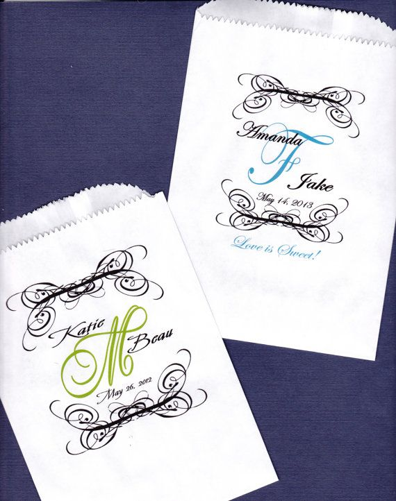 Wedding Candy Buffet Bag Favor Bags Cookie Bar by wreathartist, $15.00