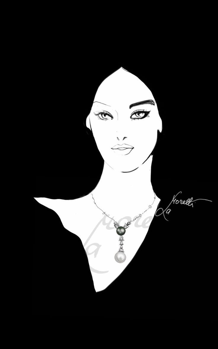 """""""Splendidamente Perla"""".  Illustration by Nadia La MOretti"""