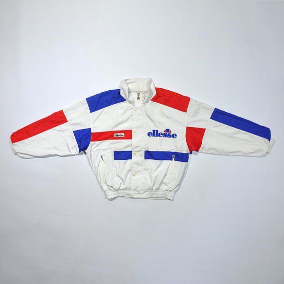 Rare Vintage 90s ELLESSE Track Jacket   ELLESSE Vintage Windbreaker    Ellesse Retro Streetwear   Ellesse Color Block Jacket   Tennis Windup 259a648af