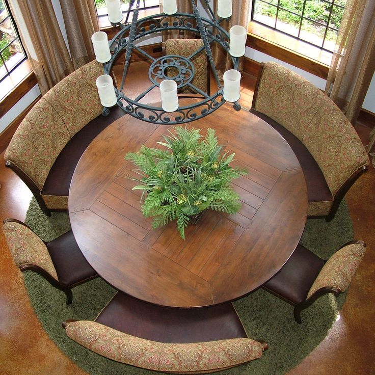 This Is One Of The Nicest Round Table Dining Areas Ive Ever Seen