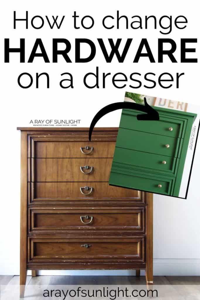 How To Change Hardware On A Dresser Diy Furniture Redo Refinishing Furniture Diy Diy Dresser