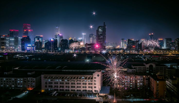 """Beijing fireworks - I took this photo during the Chinese new year holidays last year. Spending this festival in China is a very particular experience... Anyone can buy fireworks in the special dedicated tents in the streets and shoot them randomly (every year there is a lot of accidents tho...). That's my favorite time to be in China.  I upload it so late because I actually forgot I took this picture... This is a stack of """"I forgot how many shots"""" but i stayed at my window shooting for a…"""