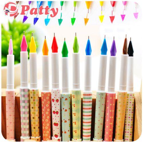 12 цвет вишни шаблон ручки цветочные гелевая ручка canetas материал эсколар школьные принадлежности св . пэтти канцелярские papelaria F247