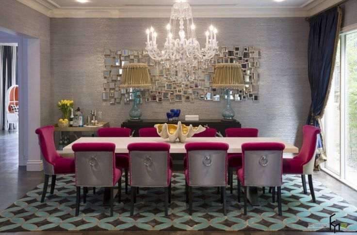 http://www.drissimm.com/wp-content/uploads/2015/05/elegance-country-house-design-with-electic-style-interior-in-dining-room-as-well-crystal-chandelier-above-dining-table-feat-pink-dining-chair-including-mirror-decor-on-the-wall.jpg