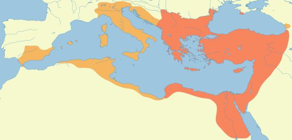 Early Middle Ages - Byzantium under Justinian ruled 527-565 AD