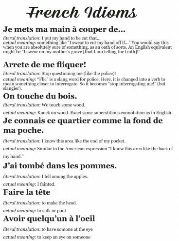 french idioms and phrases pdf
