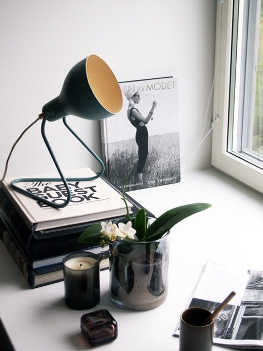 Minimalist home office details
