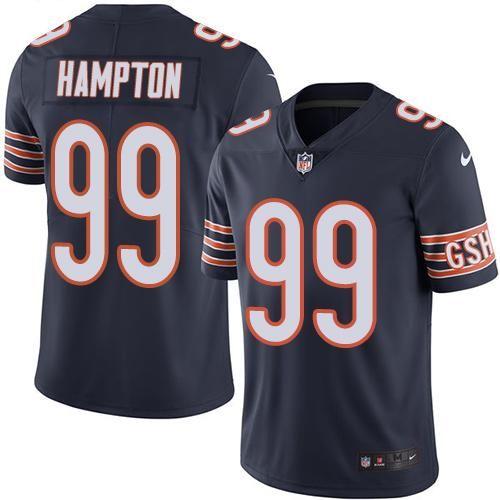 Nike Bears #99 Dan Hampton Navy Blue Men's Stitched NFL Limited Rush Jersey