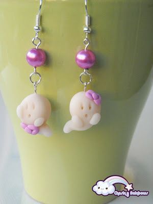 Collezione Halloween Kawaii Special - Orecchini Ghost (versione cute) #kawaii #cute #sweet #handmade #jewels