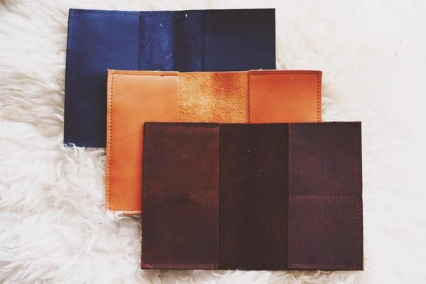 Pure Leather Passport Wallet - Honey & Heid Passport Wallet Honey and Heid Honey & Heid. $40
