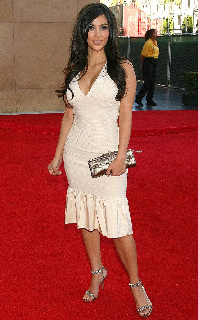 Kim kardashian white dress kentucky derby