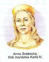 Anna Svídnická, manželka římského císaře, českého, římsko-německého, italského a burgundského krále, hraběte lucemburského a markraběte moravského