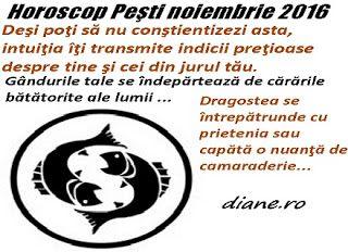 diane.ro: Horoscop Peşti noiembrie 2016