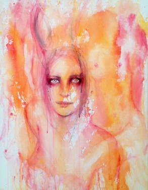 "Saatchi Art Artist Fiona Maclean; Painting, ""Manon"" #art #saatchiart"