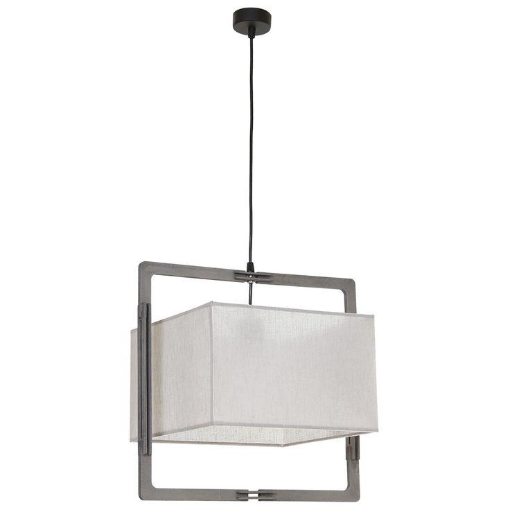 Lampa wisząca zwis Aldex Loki kwadrat 1x60W E27 szara 881G17/K hurtelektryczny.pl