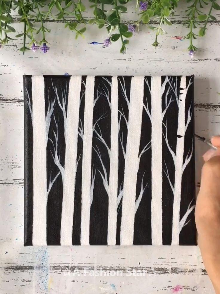 6 Super Easy Painting Art For Home Decor – Painting For Beginner