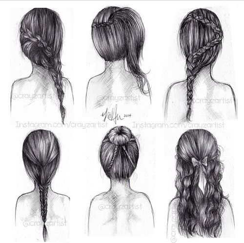Best Hair Styles Images On Pinterest Drawing Girls Drawing - Hairstyle in drawing
