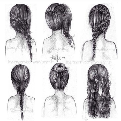 Stupendous 1000 Images About Hair On Pinterest Drawing Hair Female Short Hairstyles For Black Women Fulllsitofus
