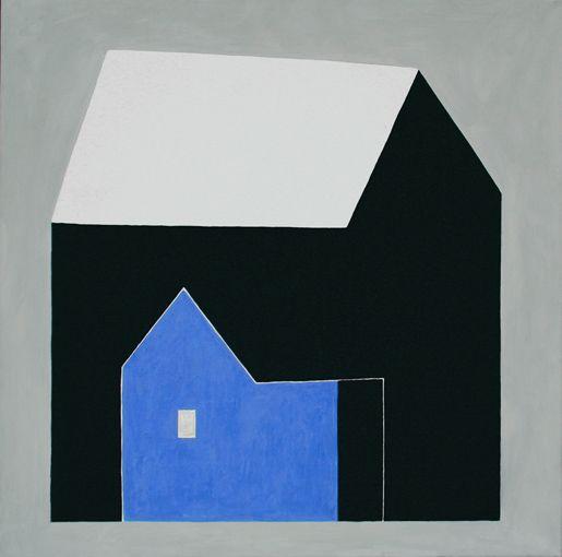 Hanne Borchgrevink, Huset i huset, 2006-7, 120x120cm, eggtempera