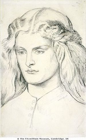 Annie Miller (1860-3) D G Rossetti