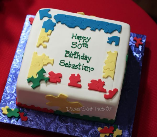 Cake Decorated By Girl With Autism : 17 Best images about Puzzle Cakes on Pinterest Art cakes ...