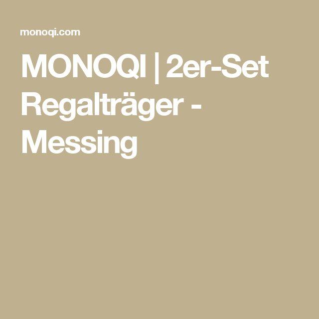 MONOQI   2er-Set Regalträger - Messing