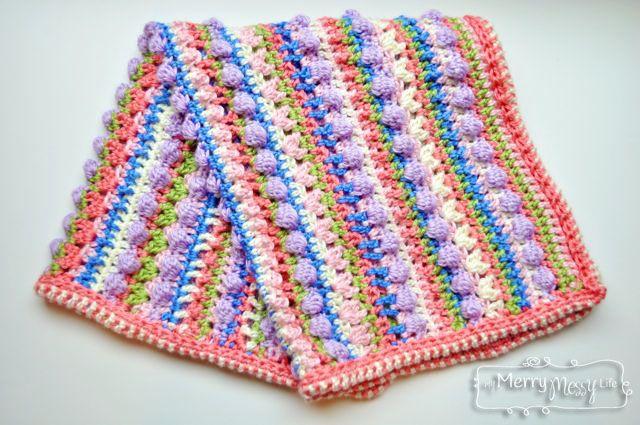 Sugar Love Crochet Baby Blanket - Free Crochet Pattern