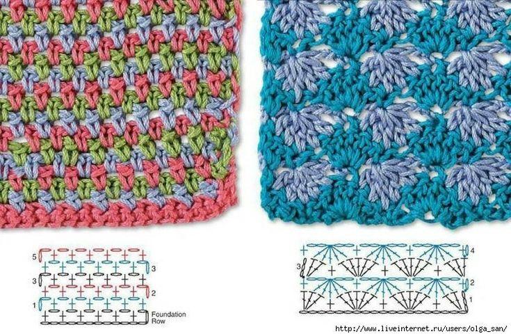 цветные узоры крючком - Самое интересное в блогах
