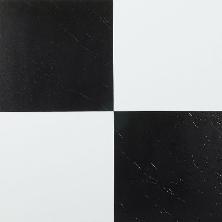 Give your home interior a refreshing look with this self-adhesive vinyl floor tile. Easy to install with just a peel and stick method, these black and white block tiles. Perfect for use in your kitchen, dining room, bed/ bathroom, basement and more.