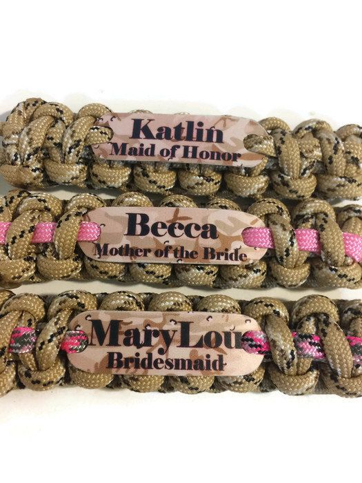 Camo Wedding, Country Wedding, Redneck Wedding, Bridesmaid and Maid of Honor Gifts, Wedding Party  Favors