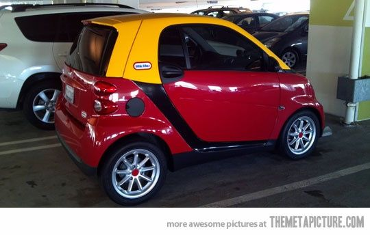 The only acceptable paint job for a smart car! Haha