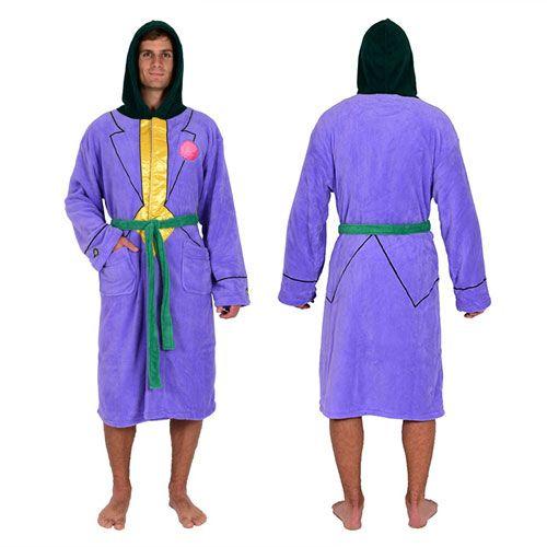 DC Comics Batman Joker Jacket Hooded Fleece Bathrobe - Robe Factory - Batman - Bed and Bath at Entertainment Earth