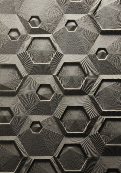 hexes #material #surface #design #cnc