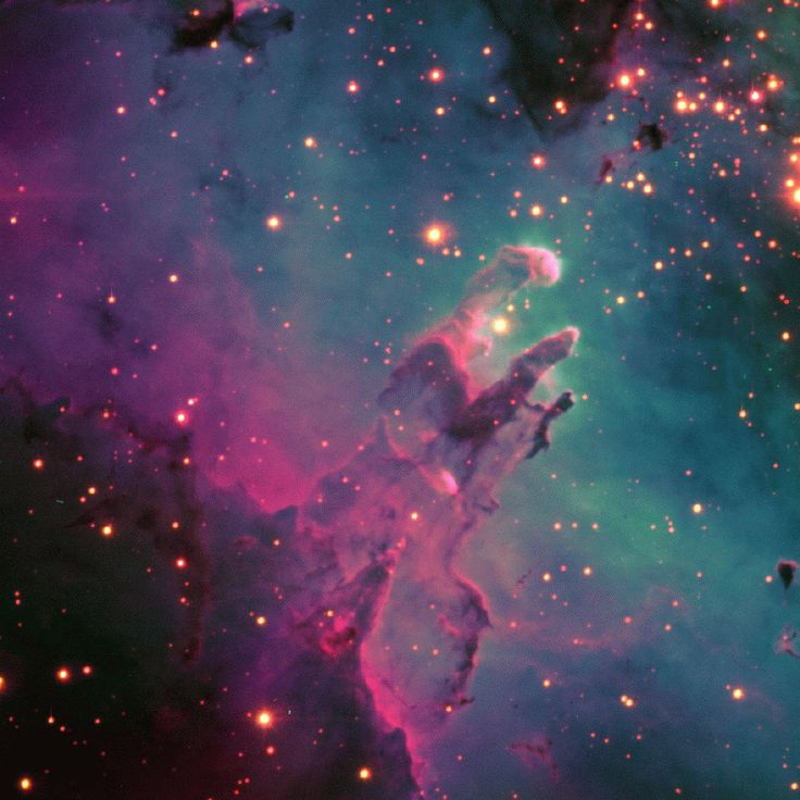 The Eagle Nebula glows like a neon sign in a composite image from the Whipple Observatory in Arizona. (NASA/APOD)
