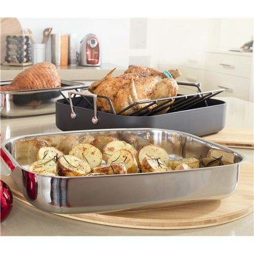 Baccarat Entree Roaster 36cm with Lid & Rack