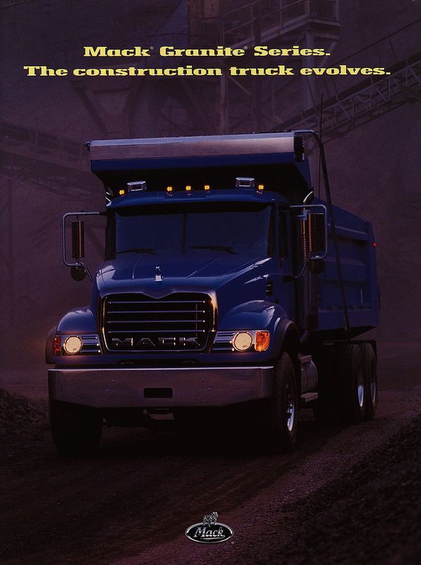 Mack Granite Series. The construction truck evolves. 2003_1 | truck brochure | by worldtravellib World Travel library - The Collection