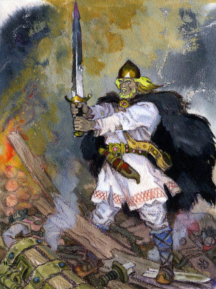 nicolai kochergin_kalevala_12_ilmarinen takes kullervo into his house_02.jpg (1196×1600)