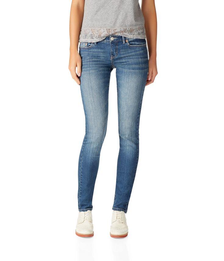 NEW! Bayla Skinny Core Medium Wash Jean - Aeropostale.com (HINT: need size double zero from aero)