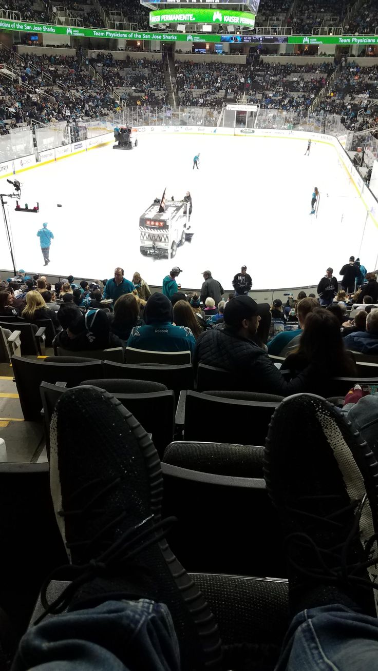 Unds'd the yeezys at the sharks game.