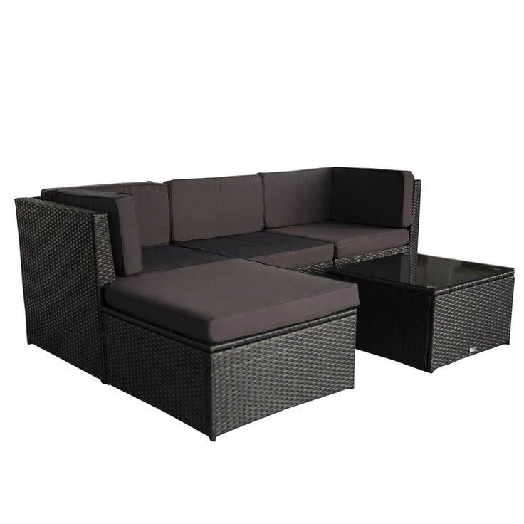 Luxo Muara Wicker Outdoor Sofa Setting - Black Was $399.00 ... on Luxo Living Outdoor id=63976