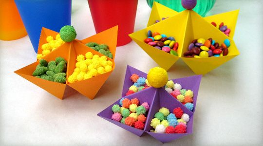 saliere deco table anniversaire Could make these like old paper fortune tellers