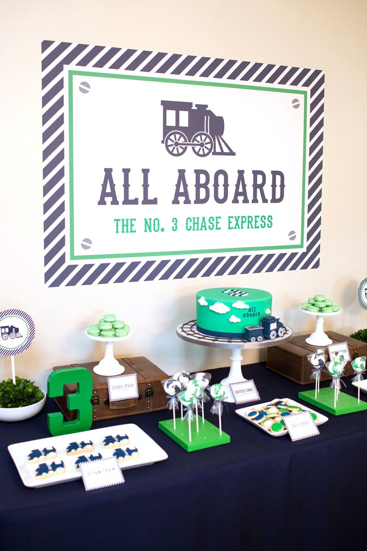 Train Party Backdrop (Train Birthday, Train Baby Shower, Navy Blue Train, Train Party, Printable Train Welcome Sign, Green) by PinkPoppyPartyShoppe on Etsy https://www.etsy.com/listing/515968088/train-party-backdrop-train-birthday