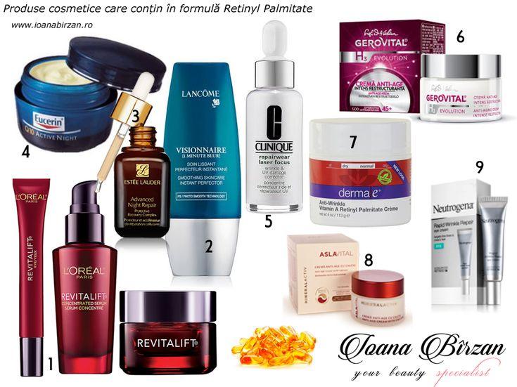 Creme cu Retinyl Palmitate http://ioanabirzan.ro/creme-cu-retinol-cum-le-alegem-si-cum-le-aplicam/
