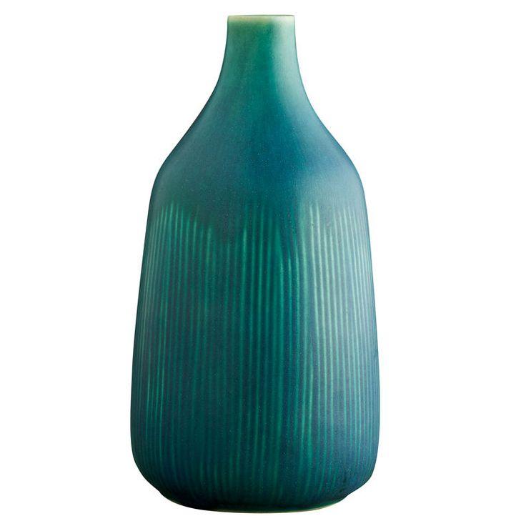 Blue/Green Ceramic Vase, Eva Staehr Nielsen for Saxbo, ca. 1960