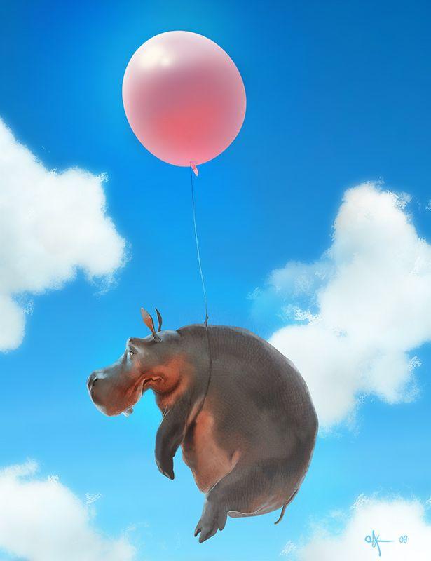 Les 38 meilleures images du tableau hippopotame peinture for Objet decoration hippopotame