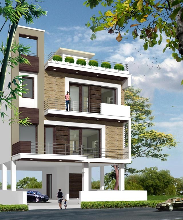 17 best images about house designs on pinterest house for Home exterior design india
